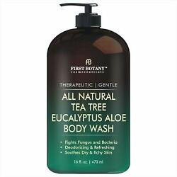 ALL Natural Tea Tree Body Wash Fights Body Odor, Athlete s Foot, Jock Itch 16oz