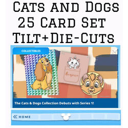 Kyпить CATS AND DOGS COLLECTION-25 CARD SET-TILT/DIECUT+-TOPPS DISNEY COLLECT на еВаy.соm