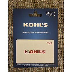 Kyпить Kohl's Gift Card $50- New-No Writing On Packaging (Great Gift) на еВаy.соm