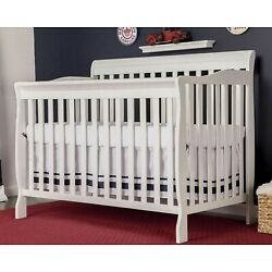 Kyпить Convertible Baby Bed 5-in-1 Full Size Crib White Nursery Bedroom Furniture New! на еВаy.соm