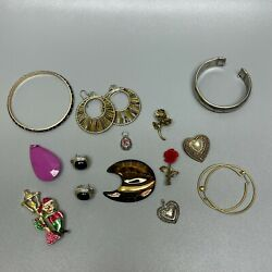 Kyпить Vintage Estate Jewelry Lot Some Signed Good Condition Bracelet Pin Earrings  на еВаy.соm
