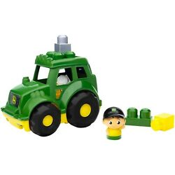 Kyпить Mega Bloks John Deere Lil' Tractor with 1-Block Buddy Figure NEW на еВаy.соm