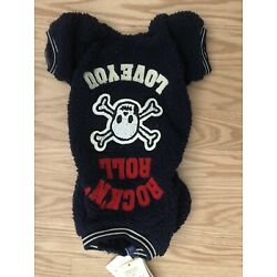 Trendy Rock And Roll Sherpa Dog Sweatshirt With Crystals