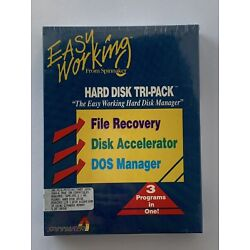 Spinnaker IBM 5.25  Hard Disk Tri-Pack File Recovery Accelerator DOS Manager NIB