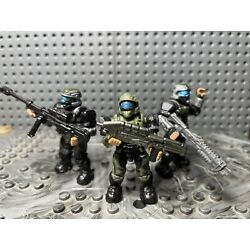 Kyпить Halo Mega Bloks Lot Of 3 Green ODST Figures With Weapons B16 на еВаy.соm