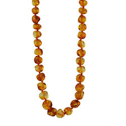 Classic Genuine Natural Baltic Amber Baroque Beaded Nice Necklace 26 Inches