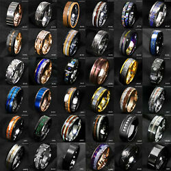 Kyпить Tungsten Ring & Gold Black Silver Blue Green CZ Mens Wedding Band ATOP Jewelry на еВаy.соm