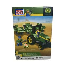 Kyпить Mega Bloks John Deere Tractor and Mower 80831 W/ Mini Figures NIB Retired 133 pc на еВаy.соm