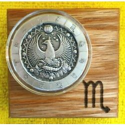Kyпить 1 oz *SCORPIO*  Ultra High Relief Zodiac .999 Pure Silver Round in Display Box ! на еВаy.соm