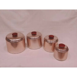 Kyпить Mirro Copper colored Anodized Aluminum Canister Set   EVC EUC MCM на еВаy.соm
