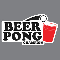 Beer Pong Champion Vinyl Sticker/Decal *Funny*Brewery *Corona*Coors  *Miller*Bud