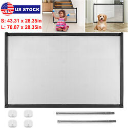Portable Baby Pets Dog Cat Safety Gate Mesh Fence Home Kitchen Net Guard Indoor