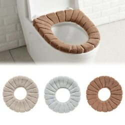 Bathroom Toilet Seat Washable Filling Soft Warmer Mat Comad Cover Cushion Seat