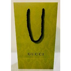 GUCCI Gift Paper Bag Tot Green Limited Edition  NEW 11.25 x 6.7 x 4.45 FREE SHIP