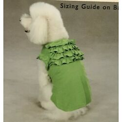 Tired Ruffle Neck Pet Tee by East Side Collection Size XXS-M NWT