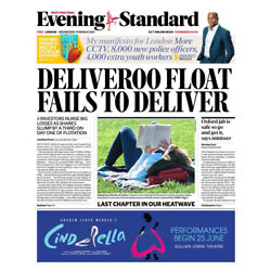 Evening Standard Newspaper -CORONA- DELIVEROO IPO/LOCKDOWN ENDS - 31 MARCH 2021