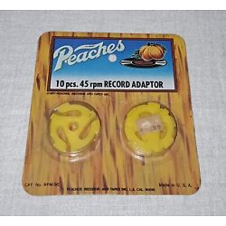 Kyпить PEACHES RECORDS AND TAPES RECORD ADAPTOR PACK SEALED NOS 1977 на еВаy.соm