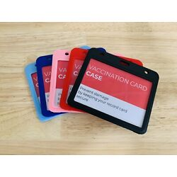 """Kyпить Vaccination Card Color ID Holder Protector Case Heavy Duty 4""""x 3"""" Right Fit CDC на еВаy.соm"""