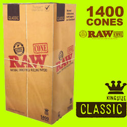 Kyпить Classic RAW 1400 Box Natural Cones Pre-Rolled King Size BULK Super fast shipping на еВаy.соm