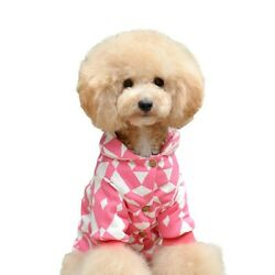 One Tail Four Paws Geometric Print Jacket, X-Large, Baby Pink