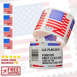 Kyпить Roll of 100 Stamps USPS 2018 US Flag Forever Stamps-LOWEST ON EBAY!-$32.99-$$$$ на еВаy.соm