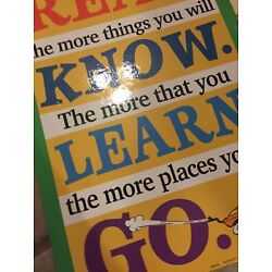 Dr Seuss Read Know Learn Go Poster And Activity Placemat