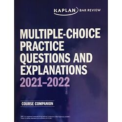 **BRAND NEW** 2021 ~ 2022 Kaplan PMBR MBE Practice Questions & Answers