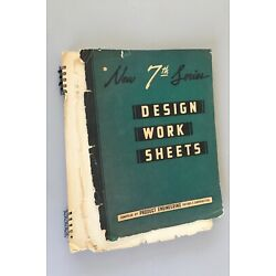 Kyпить Vintage book Design Work Sheets Product Engineering machinery drafting data 1945 на еВаy.соm