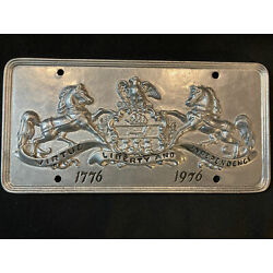 Kyпить 1776 pennsylvania 1976 bicentennial metal license plate virtue liberty and indep на еВаy.соm