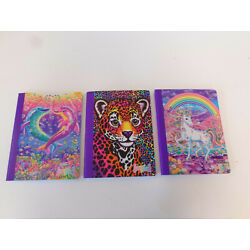 Lisa Frank Composition Notebook 100 sheets (SET OF 3) Cheetah Unicorn Dolphins