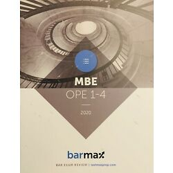**BRAND NEW** 2020 Barmax Bar Exam Review MBE OPE 1-4 ~~ Better BARBRI
