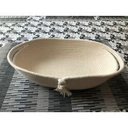 New Nautical style Handmade Woven Cotton Rope Bowl or Storage Basket