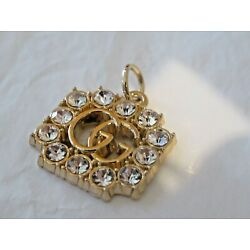GUCCI ZIP PULL   20MM gold tone,  RHINESTONES THIS IS FOR 1