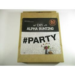 Kyпить DIY Alpha Bunting # Party 80 Pieces Brand New In original Packaging UBL China на еВаy.соm
