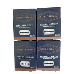 4x New King C Gillette Double Edge Safety Razors 10 Blades =40, FREE SHIPPING