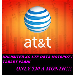 UNLIMITED AT&T 4G & 5G HOTSPOT Data & SIM Card Package - Only $20 a Month