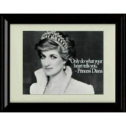 Framed Princess Diana Quote - Only Do What Your Heart Tells You