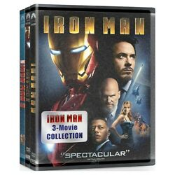 IRON MAN Movie 3 Film Collection 3-Disc DVD Set - Brand New - Free Shipping
