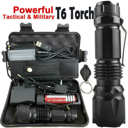 img-90000LM Zoom X800 Ultrafire Tactical Military T6 LED Flashlight Torch Light Lamp