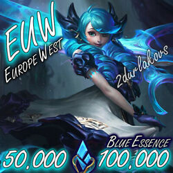 EUW League of Legends LOL Account 50.000 100.000 BE Unranked Smurf Level 30
