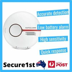 Smoke Alarm Fire Detector Photoelectric with Battery, Fast Response all Fire