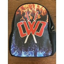 """Chad Wild Clay Kid's 16"""" Backpack Bag School Youtuber Flames New free shipping"""