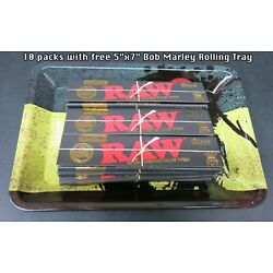 10 Packs Raw Classic Black King Size Natural Unrefined Rolling Papers Free Gift