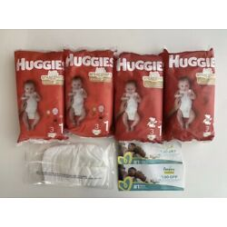 12 Counts Huggies Diapers size 1 And One Pamper Size Newborn + Free Gift Look!!