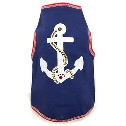Anchors Away TankTop for Dog, size L (Back 16''-19''), by I See Spot, Marines, NWT