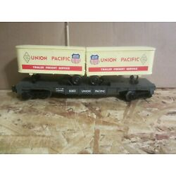 LIONEL 9383 UNION PACIFIC UP  FARR  FLAT CAR W/ PUP TRAILERS