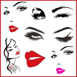 Eyes & Lashes & Brow Fashion Wall Sticker Art Decal Vinyl For Home Room Decor