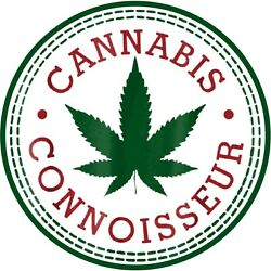 LARGE Weed Cannabis Connoisseur Stoner  6.5  Sticker