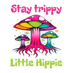 LARGE Magic Mushrooms Psychedelic Rainbow Trippy Hippie Shrooms  6.5  Sticker