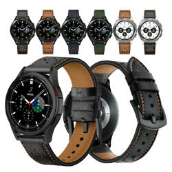 Premium Leather Watch Band Strap For Samsung Galaxy Watch 4 Classic 42mm 46mm